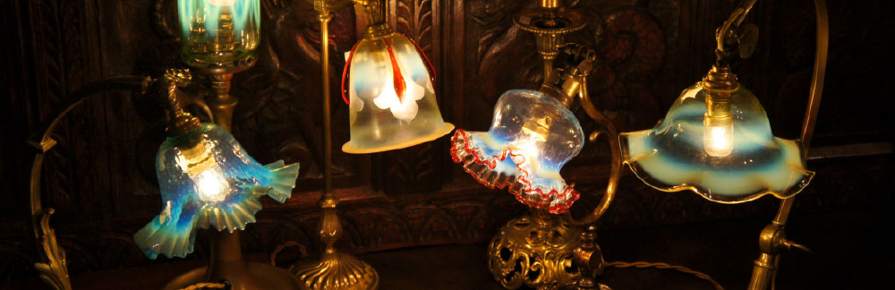 ヴァセリンガラス・ランプシェード 西洋・アンティーク家具の専門店「家具のこばやし」- 福島県福島市アンナガーデン