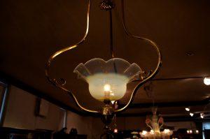 ヴァセリンガラス アンティーク ヴァセリンガラス・1灯ハンギングランプ – 43567 ヴァセリンランプ 西洋・アンティーク家具の専門店「家具のこばやし」- 福島県福島市アンナガーデン