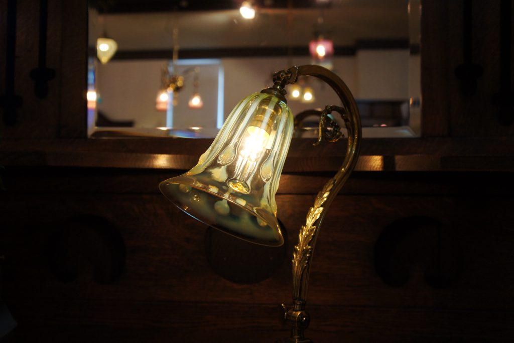 ヴァセリンガラス アンティーク ヴァセリンガラス・ランプシェード – 52054|ヴァセリンランプ 西洋・アンティーク家具の専門店「家具のこばやし」- 福島県福島市アンナガーデン
