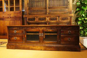 オリジナル家具 オリジナル チューダースタイル・TVボード1500|ヴァセリンランプ 西洋・アンティーク家具の専門店「家具のこばやし」- 福島県福島市アンナガーデン